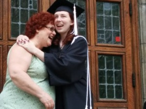 This is one of my favorite pictures of us. Laughing at my graduation from Geneva.