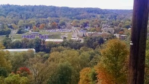 The view of campus from the top