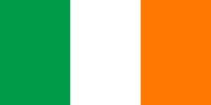 green and orange colours of the irish national flag